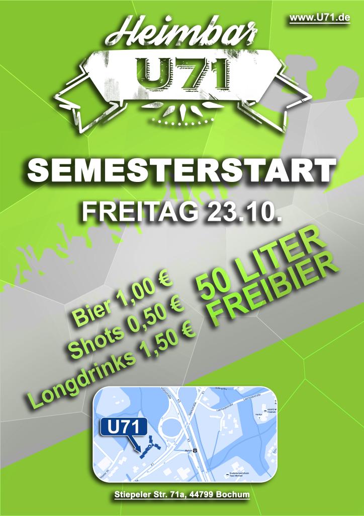 U71 - Semesterstart